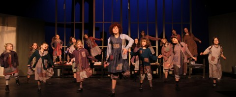 photo of theater production, Annie